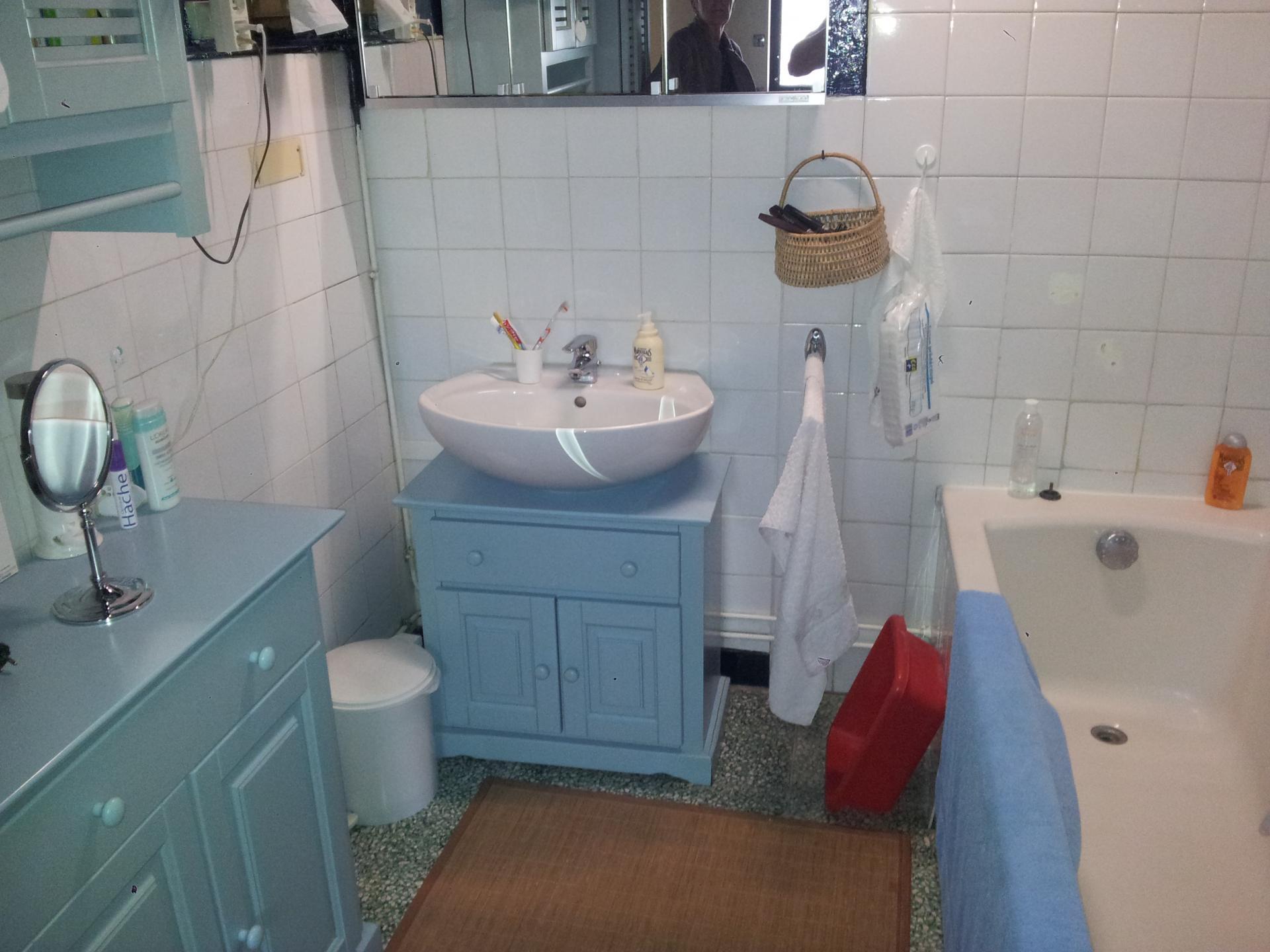 Salle de bain avant travaux de rénovation