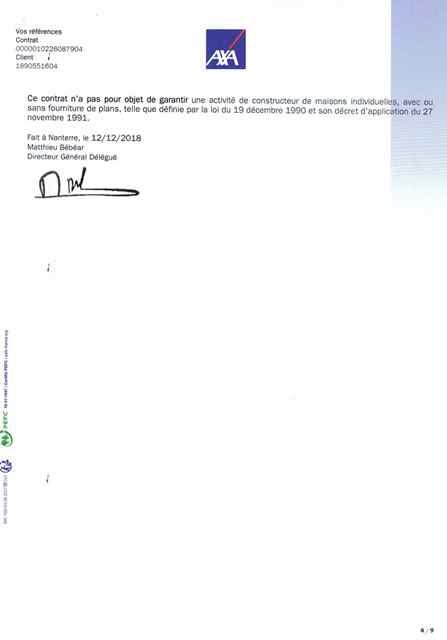 Attestation d'assurance décennale Ent LABBÉ page 4