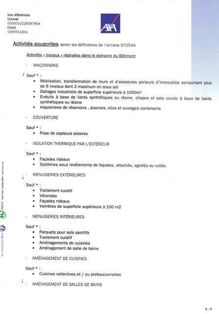 Attestation d'assurance décennale Ent LABBÉ page 5