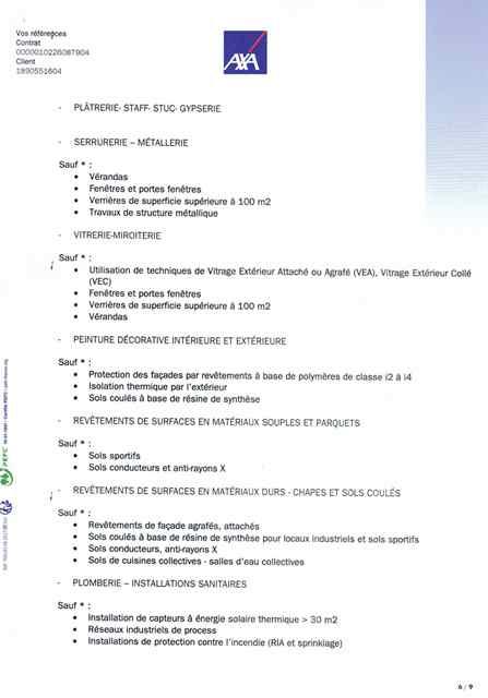Attestation d'assurance décennale Ent LABBÉ page 6