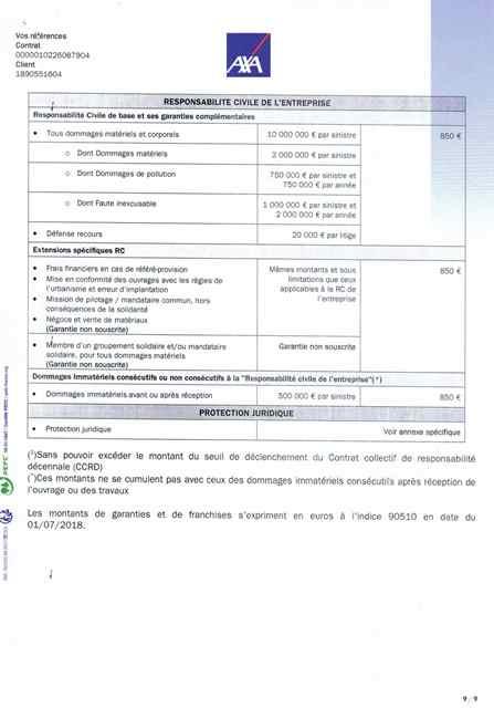 Attestation d'assurance décennale Ent LABBÉ page 9